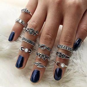 11 pc Boha set of Rings